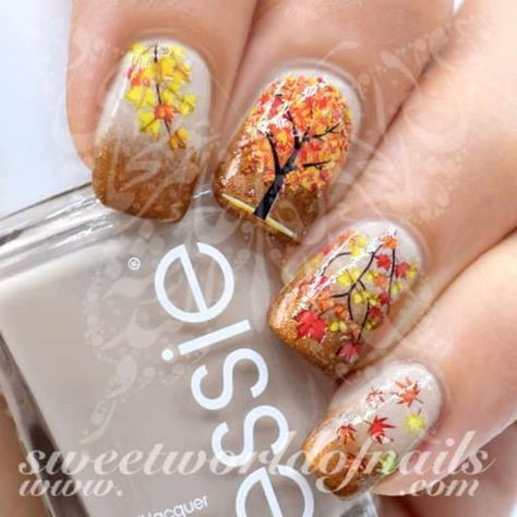 Fall Gel Nails, Fall Acrylic Nails, Autumn Nails, Neon Nails, Fall Nail Art Autumn, Nail Art For Fall, Simple Fall Nails, Fall Manicure, Fingernail Designs