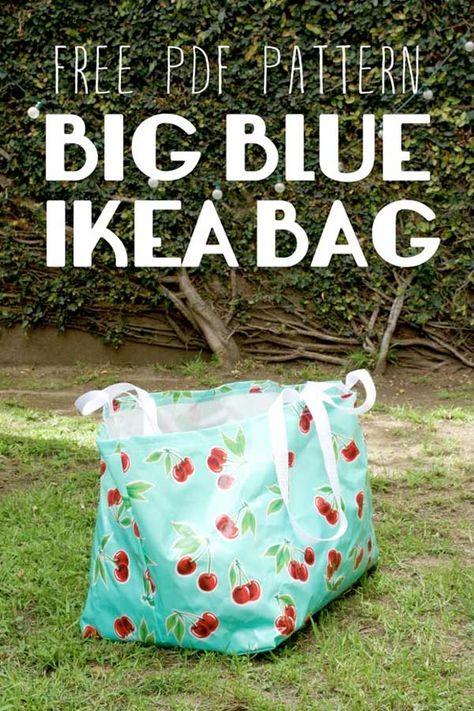 DIY : le gros sac bleu d'Ikea parfait pour le linge sale ou à repasser
