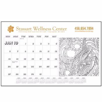Custom Desk Pad Calendar W Vinyl Corners Custom Desk Custom Calendar Calendar
