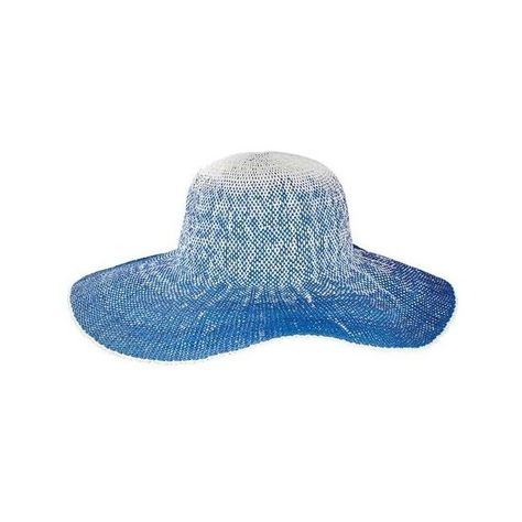 27272042 Women's San Diego Hat Company Ombre Floppy Hat PBL3081 ($25) ❤ liked on  Polyvore featuring accessories, hats, purple, paper hats, wide brim floppy  hat, ...