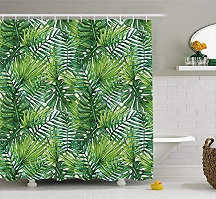 Palm Trees Bath Curtain Garden Curtains, Palm Tree Shower Curtains Bath Accessory Sets
