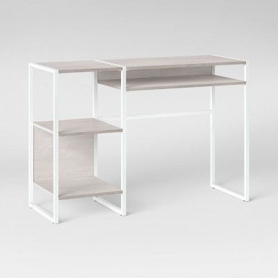 Paulo Open Desk Weathered White Project 62 Project 62 Home
