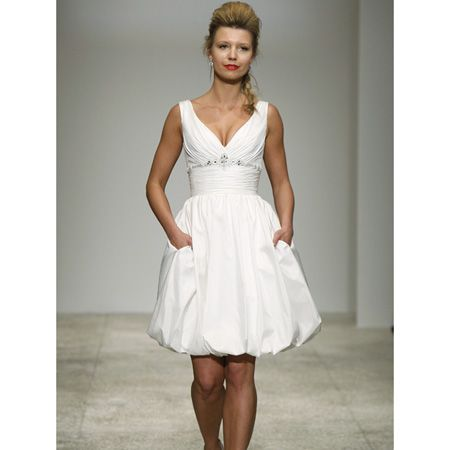 Ivory Mini Reception  Dress, Taffeta Short Beach Bridal Dress ...