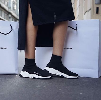BALENCIAGA SPEED TRAINER MID BLACKWHITE | Balanciaga