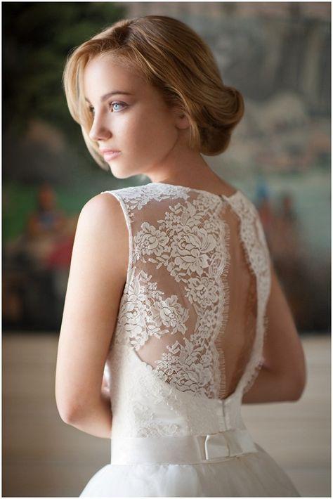 Lack back bridal wear by Fabienne Alagama