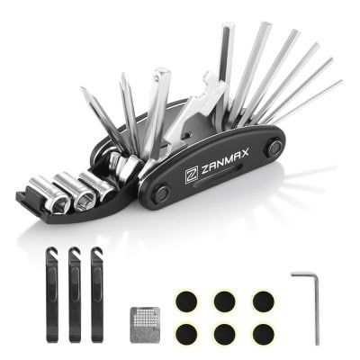 Multi Function Bike Repair Tool Kit Silver And Black Bike Tools