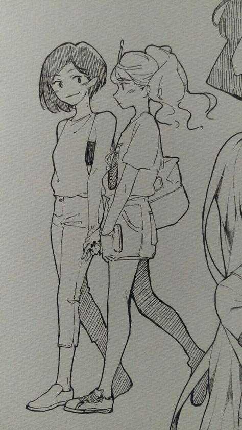 Imagem de bubblegum, marceline, and princess Art Drawings Sketches, Cute Drawings, Cartoon Drawings, Marceline And Bubblegum, Arte Sketchbook, Art Anime, Anime Art Girl, Lesbian Art, Cartoon Art Styles