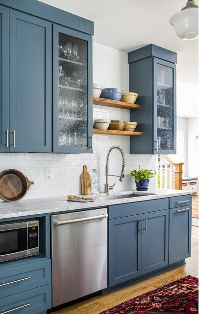 Modern Farmhouse Kitchen Design Blue Kitchen Cabinets Country Cottage Kitchen Country Kitchen
