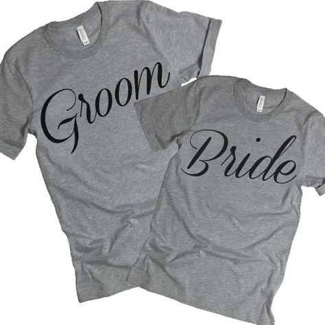 Bride Groom Shirts. Bride Groom Tee. Just by StatementTshirts