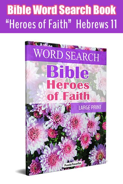 Enjoy 80 bible word search large print puzzles on the topic of faith