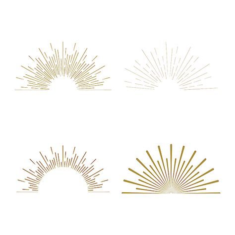 Minimal vintage gold firework burst icon by Arquitectura Logo, Sun Illustration, Landscape Illustration, Fireworks Design, Lenotre, Sun Logo, Logo Design, Graphic Design, Minimal Logo