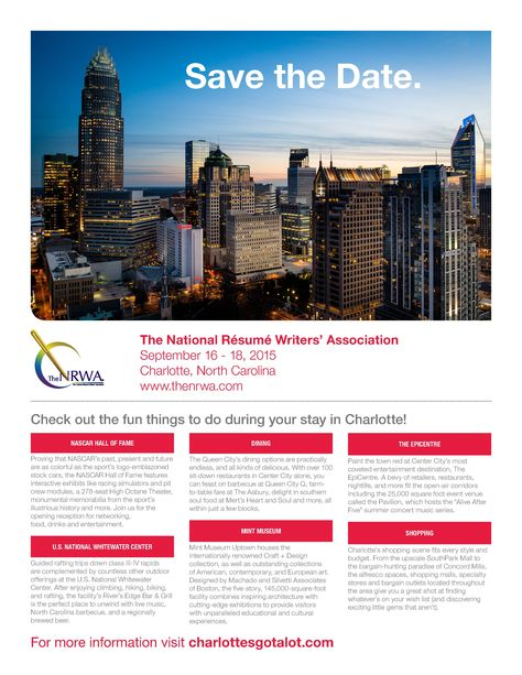 The National Resume Writersu0027 Association - Save The Date The