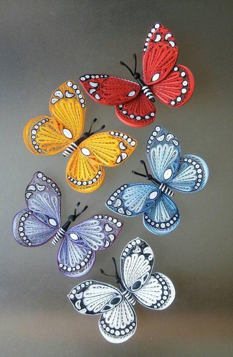 Paper butterflies Paper art decoration Paper ornaments | Etsy