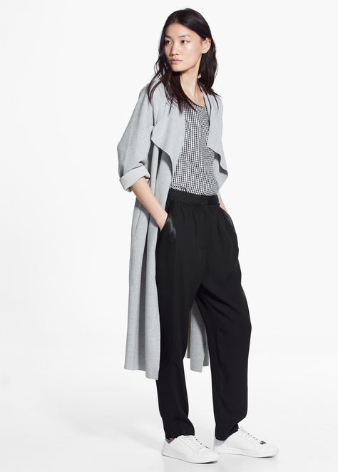 Satin panel trousers