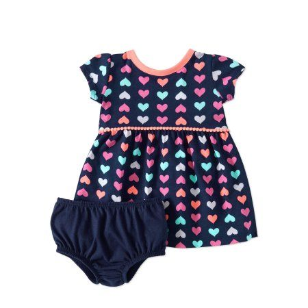 Healthtex Baby Girl 2 Piece Dress Set Size 3-6 Months