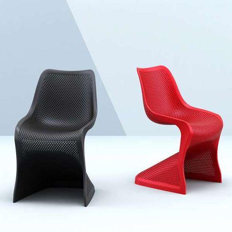 Chaise Design Ajouree En Polypropylene Bloom Chaise Design Chaise Et Design