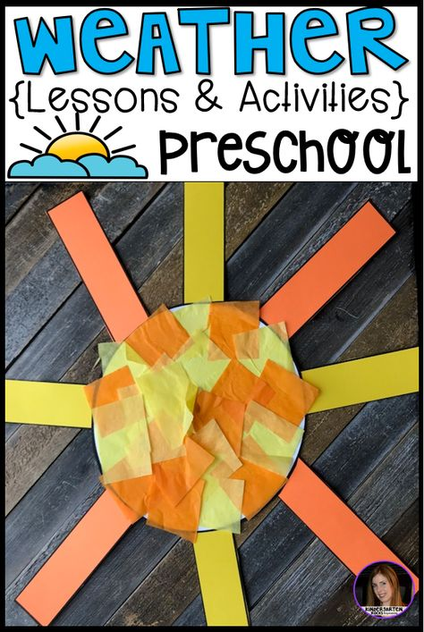 Are you looking for a fun, hands-on and engaging weather unit for your preschool classroom? Check out our weather unit. This unit has book suggestions, large group, small group, centers and independent weather activities. Weather Activities Preschool, Preschool Themes, Preschool Lessons, Preschool Kindergarten, Preschool Learning, Preschool Crafts, Science Classroom, Preschool Weather Chart, Teaching Weather