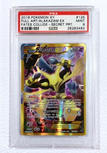 Alakazam EX 125//124 Fates Collide Rare Secret Mint Pokemon Card