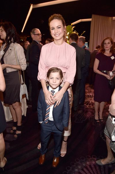 Actors Brie Larson (top) and Jacob Tremblay attend the 88th Annual Academy Awards nominee luncheon on February 8, 2016 in Beverly Hills, California.
