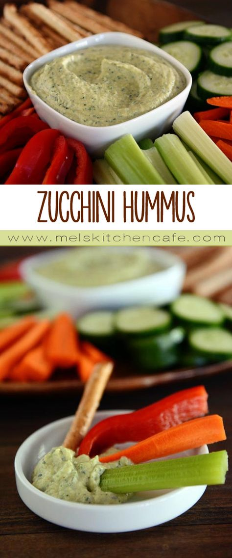 I highly recommend this zucchini hummus. It is super fast and deliciously healthy.