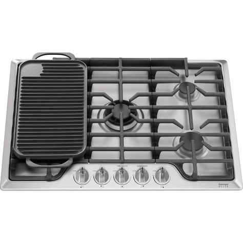 Kitchenaid 30 Inch Gas Cooktop Stainless Steel Kenmore Elite