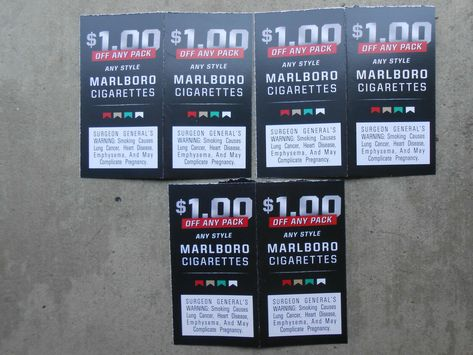 5 Salem marlboro Cigarette Coupons save $11 50