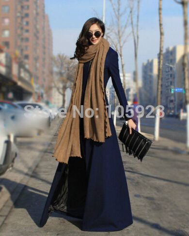 long cardigan coat modest clothing winter full length dress coat ...