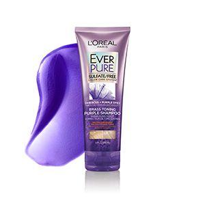 L Oreal Paris Everpure Sulfate Free Purple Shampoo For Colored Hair 6 8oz Purple Shampoo Sulfate Free Purple Shampoo Purple Shampoo And Conditioner