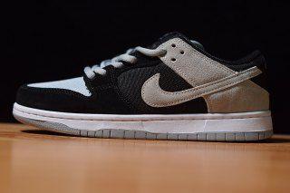 Mens Womens Skate Shoes Nike SB Zoom Dunk Black Wolf Grey