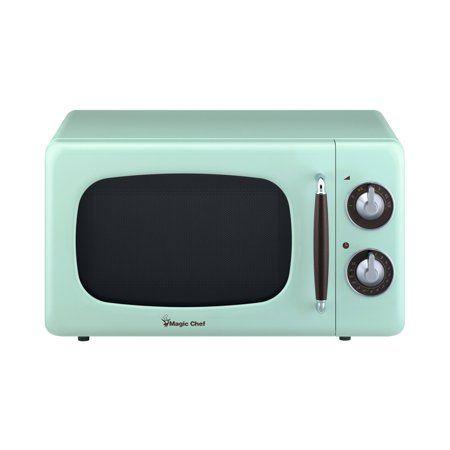 0 7 Cu Ft 700 Watt Countertop Microwave In Mint Green Walmart Com Countertop Microwave Magic Chef Countertop