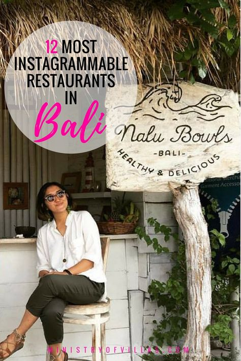 Travelling to Bali? Check out this guide to the 12 most Instagram friendly restaurants in Bali. These Bali restaurants and cafes are just begging to be photographed!
