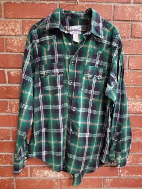 21c53b9f6e Details about Men s VTG Rockmount Tru-West Ranch Wear Denim Western ...