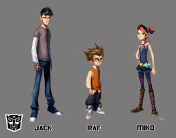 Jack, Raf and Miko by Desoluz | Character design