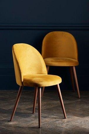 Svelti Daisy Yellow In 2020 Dining Chairs Fabric Dining Chairs Yellow Dining Chairs