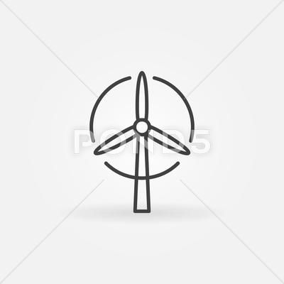 Wind Turbine Logo Or Icon Stock Illustration Ad Logo Turbine Wind Illustration Wind Logo Energy Logo Turbine