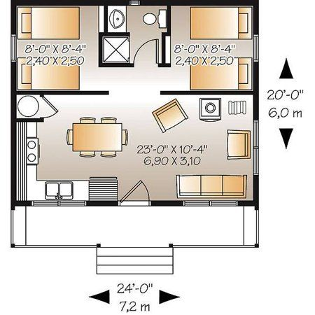 level Recreational and affordable small 2 bedroom cabin with wood stove ope&; level Recreational and affordable small 2 bedroom cabin with wood stove ope&; Recreational Room Recreational Room […] Homes For Families layout Beach House Plans, Small House Plans, House Floor Plans, 20x30 House Plans, Bedroom Layouts, House Layouts, Small House Layout, Granny Pods, Cottage Front Doors