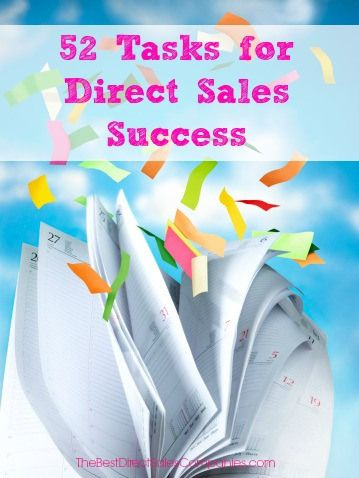 52 Tasks for Direct Sales Success. Great tips that will start your new year out right! #directsales #sales www.OneMorePress.com