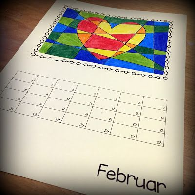 Bastelkalender Ideen.Endlich Pause 2 0 Bastelkalender Februar Bastelkalender