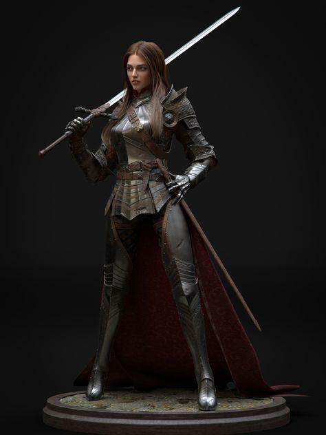 ArtStation - Fantasy knight, Xu Yang