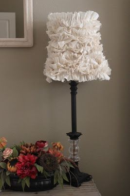 ruffle-lamp-shade. I do like ruffles better than fake flowers. It would have to take just the right space.