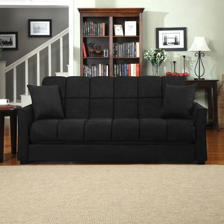 Maurice Pillow Top Arm Convert A Couch Gray Handy Living With