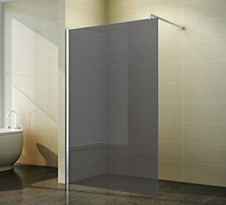 Walk In Duschabtrennung Grauglas Duschwand Dusche Glas