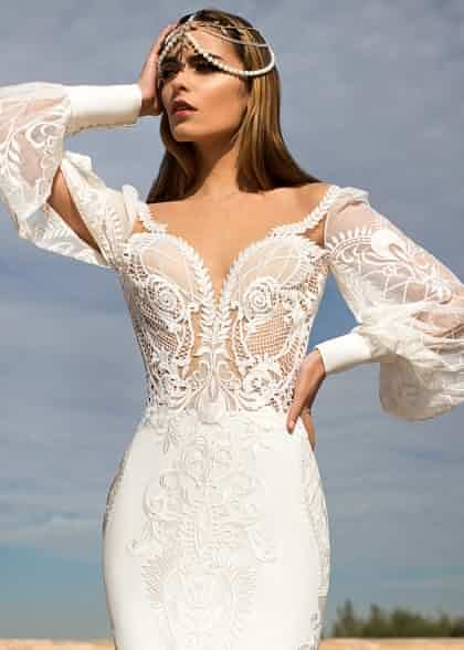 Agnesa Lorenzo Rossi Belleza Total 8 Wedding Dresses Cream