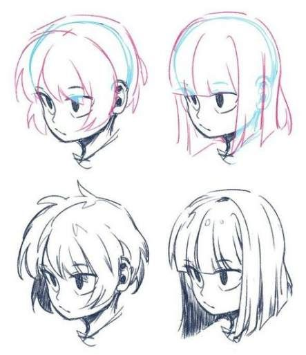 34 Ideas Drawing Hair Reference Cartoon Drawings Art Reference Guy Drawing