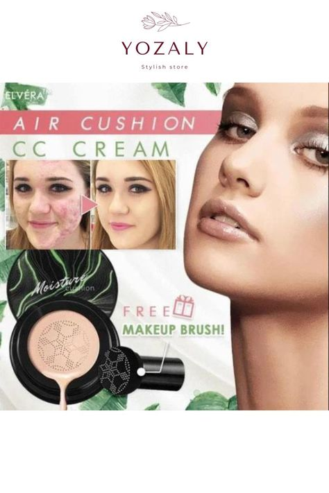 SPECIAL OFFER THIS WEEK: BUY 2 AND GET ANOTHER 1 FOR FREE + FREE SHIPPING 🎉 Do you want a photo ready foundation at any age ? Our CC Cream offers you a flawless makeup and concealment experience ! DESCRIPTION : This Air Cushion CC Cream rolls gently over the skin with an air-covering effect for a naturally smooth and silky finish.