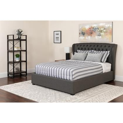 Sl Bm 145 Gg Barletta Tufted Upholstered Full Size Platform Bed In