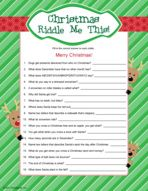 Riddle Me This -Christmas party game