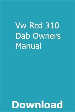 rcd 310 user guide pdf