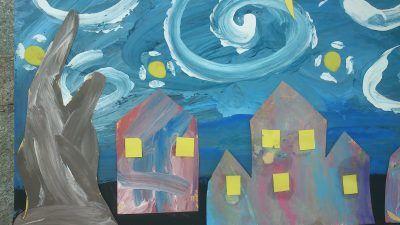 Van Goghs Starry Night Craft Fun Family Crafts Family Crafts