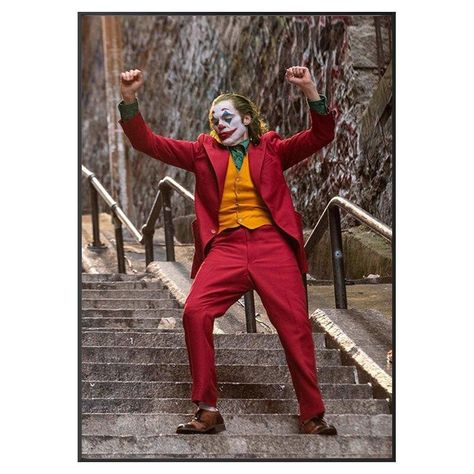 2020 movie star JOKER home decor wall posters, Joaquin Phoenix canvas paintings on the wall, fashion film artist wall pictures - 70X105cm / HZ3907